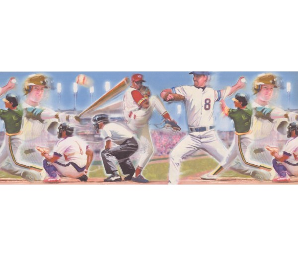 Baseball Baseball Wallpaper Border 4052 ISB York Wallcoverings