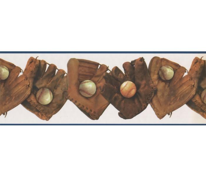 Baseball Wallpaper Borders: Gloves Wallpaper Border 4061 ISB
