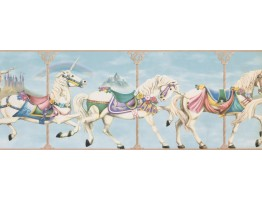 9 in x 15 ft Prepasted Wallpaper Borders - Horses Wall Paper Border 4141 ISB
