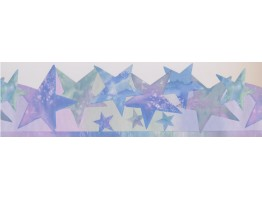 Prepasted Wallpaper Borders - Stars Wall Paper Border 4152 ISB