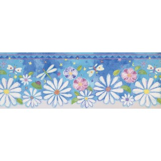 8.25 in x 15 ft Prepasted Wallpaper Borders - Kids Wall Paper Border 4172 ISB