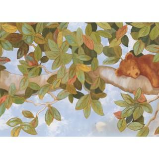 18 in x 15 ft Prepasted Wallpaper Borders - Garden Wall Paper Border 7337 IT