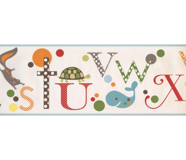 Nursery Wallpaper Borders: Kids Wallpaper Border 3502 JE