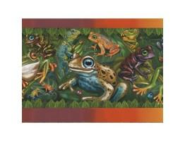 8 in x 15 ft Prepasted Wallpaper Borders - Frog Wall Paper Border JJ6826B