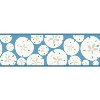 7 in x 15 ft Prepasted Wallpaper Borders - KB8545B Sand Dollar Wall Paper Border