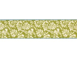 Prepasted Wallpaper Borders - Floral Wall Paper Border KB8561