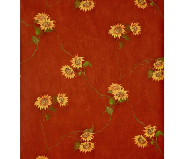 Floral Wallpaper: Sunflowers Wallpaper KC18554