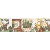Clearance: Garden Wallpaper Border KC78055L