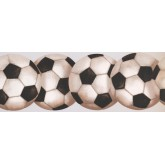 Sports Wallpaper Borders: Footballs Wallpaper Border 0466 KD