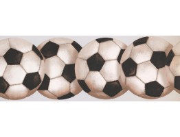 Prepasted Wallpaper Borders - Footballs Wall Paper Border 0466 KD