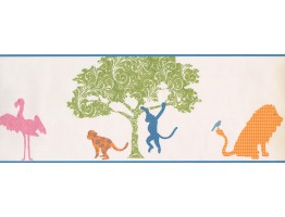 Prepasted Wallpaper Borders - Animals Wall Paper Border 1793 KD