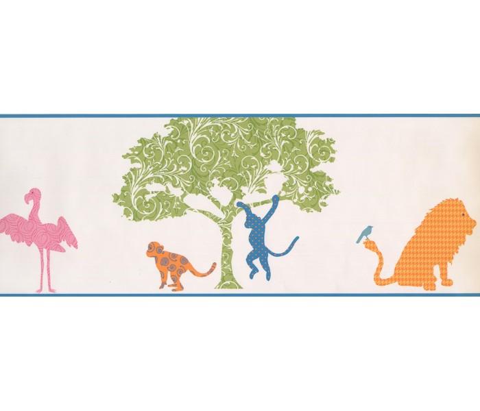 Jungle Wallpaper Borders: Animals Wallpaper Border 1793 KD