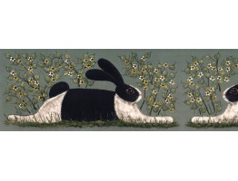 Rabits Wallpaper Border KD8106