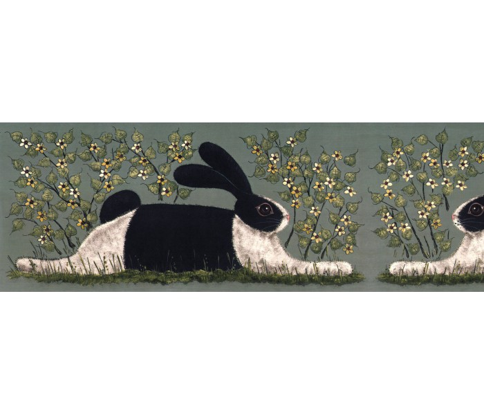 Rabbits Wallpaper Borders: Rabits Wallpaper Border KD8106
