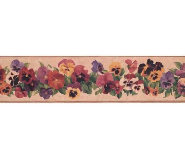 Floral Wallpaper Borders: Floral Wallpaper Border 7010 KH