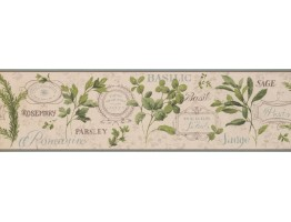 Prepasted Wallpaper Borders - Kitchen Wall Paper Border 7042 KH
