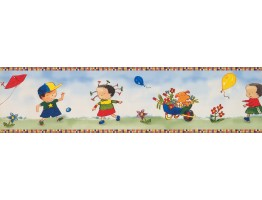 Prepasted Wallpaper Borders - Kids Wall Paper Border KP1755MB