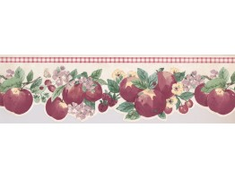 Prepasted Wallpaper Borders - Apple Wall Paper Border 2279 KR