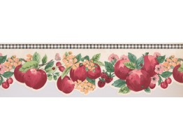 Prepasted Wallpaper Borders - Apple Wall Paper Border 2280 KR