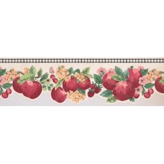 7 in x 15 ft Prepasted Wallpaper Borders - Apple Wall Paper Border 2280 KR