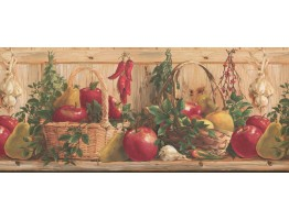 10 1/4 in x 15 ft Prepasted Wallpaper Borders - Kitchen Wall Paper Border 2322 KR