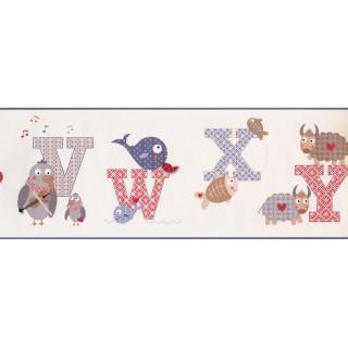 9 in x 15 ft Prepasted Wallpaper Borders - Kids Wall Paper Border 2208 KS