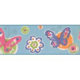 Nursery Wallpaper Borders: Kids Wallpaper Border 2249 KS