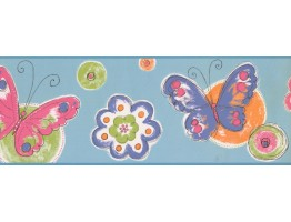 Prepasted Wallpaper Borders - Kids Wall Paper Border 2249 KS