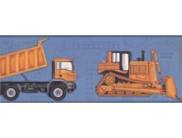 Prepasted Wallpaper Borders - Vehicles Wall Paper Border 2346 KS
