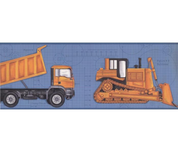 Boys Wallpaper Borders: Vehicles Wallpaper Border 2346 KS
