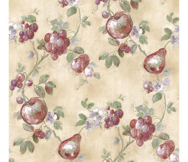 Fruits Fruits Wallpaper KT19127 S.A.MAXWELL CO.