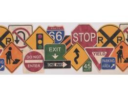 Traffic Symbols Wallpaper Border 1102 KZ