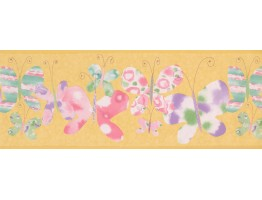 9 in x 15 ft Prepasted Wallpaper Borders - Butterfly Wall Paper Border 1126 KZ