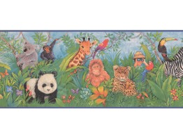 Prepasted Wallpaper Borders - Animals Wall Paper Border 1211 KZ