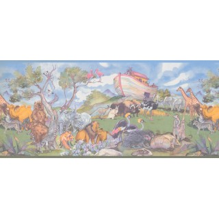 10 in x 15 ft Prepasted Wallpaper Borders - Animals Wall Paper Border 1221 KZ