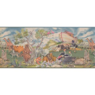 10 1/4 in x 15 ft Prepasted Wallpaper Borders - Animals Wall Paper Border 1222 KZ