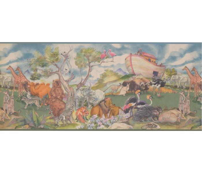 Jungle Wallpaper Borders: Animals Wallpaper Border 1222 KZ