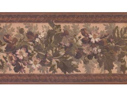 Prepasted Wallpaper Borders - Floral Wall Paper Border 3324 LG
