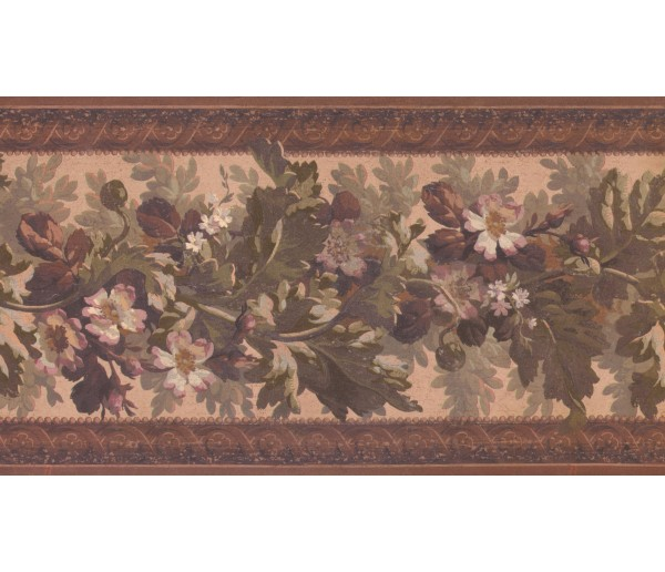 Floral Borders Floral Wallpaper Border 3324 LG York Wallcoverings