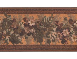 Prepasted Wallpaper Borders - Floral Wall Paper Border 3325 LG