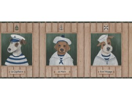 Prepasted Wallpaper Borders - Dogs Wall Paper Border 1503 LK