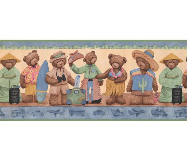 Nursery Wallpaper Borders: Teddy Bear Wallpaper Border 1695 LK