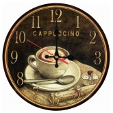 Wall Clocks Cappuccino Wooden Quartz Wall Clock