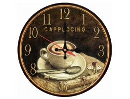 Cappuccino Wooden Quartz Wall Clock