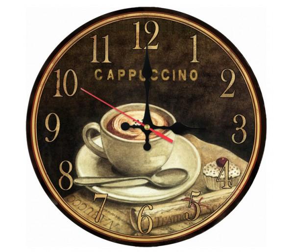 Wall Clocks Cappuccino Wooden Quartz Wall Clock