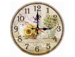 Wooden Quartz Wall Clock