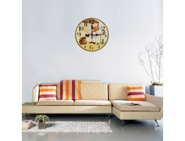 Wooden Cafe Quartz Wall Clock