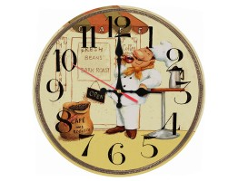 Wooden Cafe Quartz Wall Clock