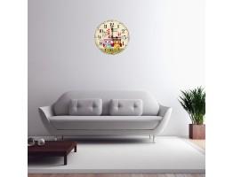 Wooden Cartoon Quartz Wall Clock