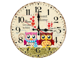 Wooden Cartoon Quartz Wall Clock